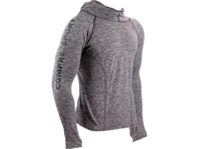 Compressport 3D Thermo Seamless Koszulka do biegania z długim rękawem szary